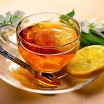 чай с лимоном, малиной