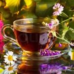 чай с липой, калиной и клюквой