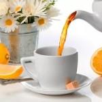 теплый ромашковый чай