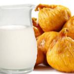 Отвар на молоке с инжиром.